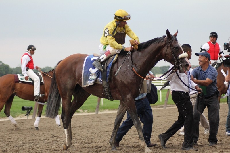Union Rags won the Belmont Stakes on Saturday.