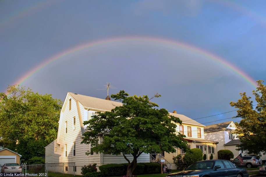 Linda Karlin took this shot of the rainbow from Elmwood Street in Valley Stream.