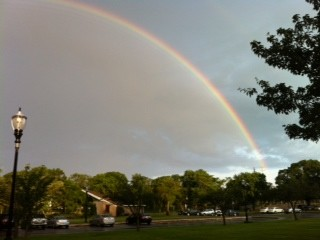 Beth Levin took this photo from outside the Henry Waldinger Memorial Library looking toward the Village Green.