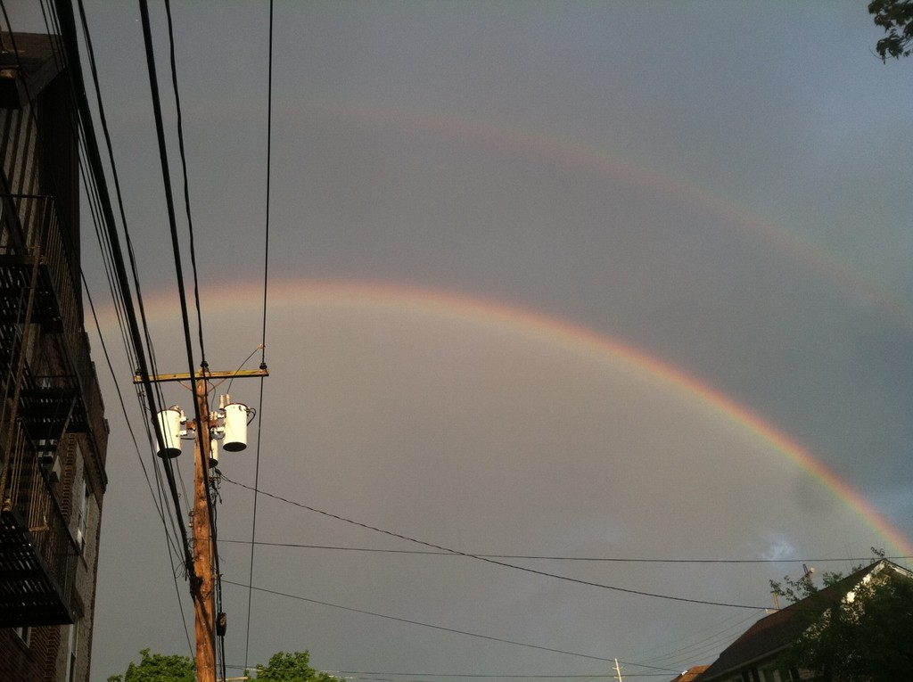This shot of a double rainbow was taken by Zoe Carpentieri and submitted by her mother, Janice Sievers.