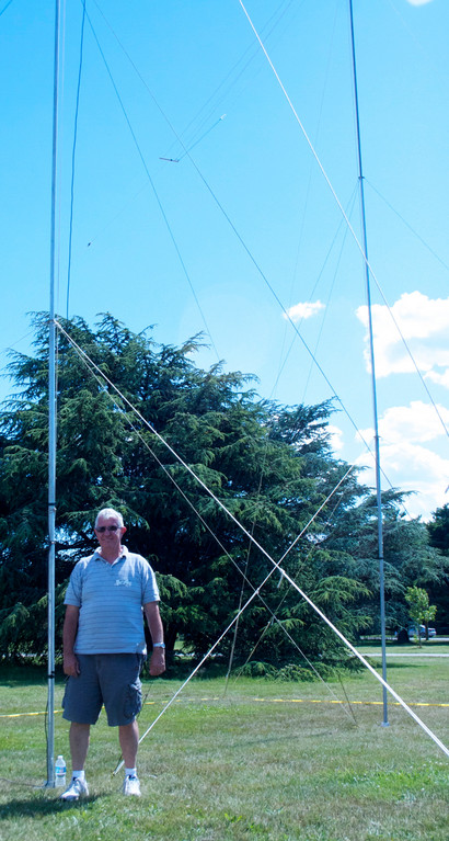 Mike Kozma, a Nassau Amateur Radio Club member, designed the antennas used to send and receive signals during Field Day.