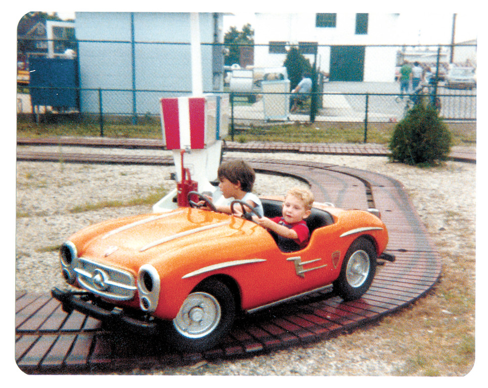 Steven Berman, Marisa�s brother, took a sportscar for a spin around the park in 1979.