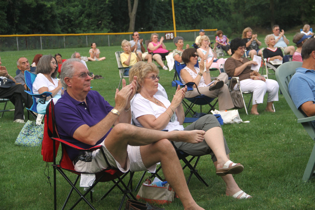 Residents and visitors relaxed in their lawn chairs and enjoyed the first of four free concerts this summer, hosted by the West Hempstead Community Support Association in conjunction with Astoria Federal Bank.