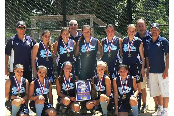 The Bellmore Blue Fire 14U fast-pitch softball squad recently took top honors in the 16U Division at the Triple Crown Summer Breeze Challenge at Stotsky Park in Riverhead.