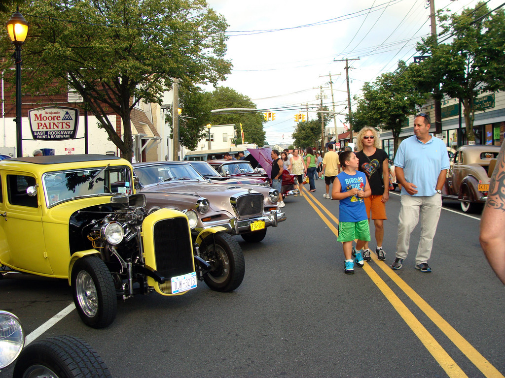 Residents and car buffs saw dozens of classic cars that lined Main Street.