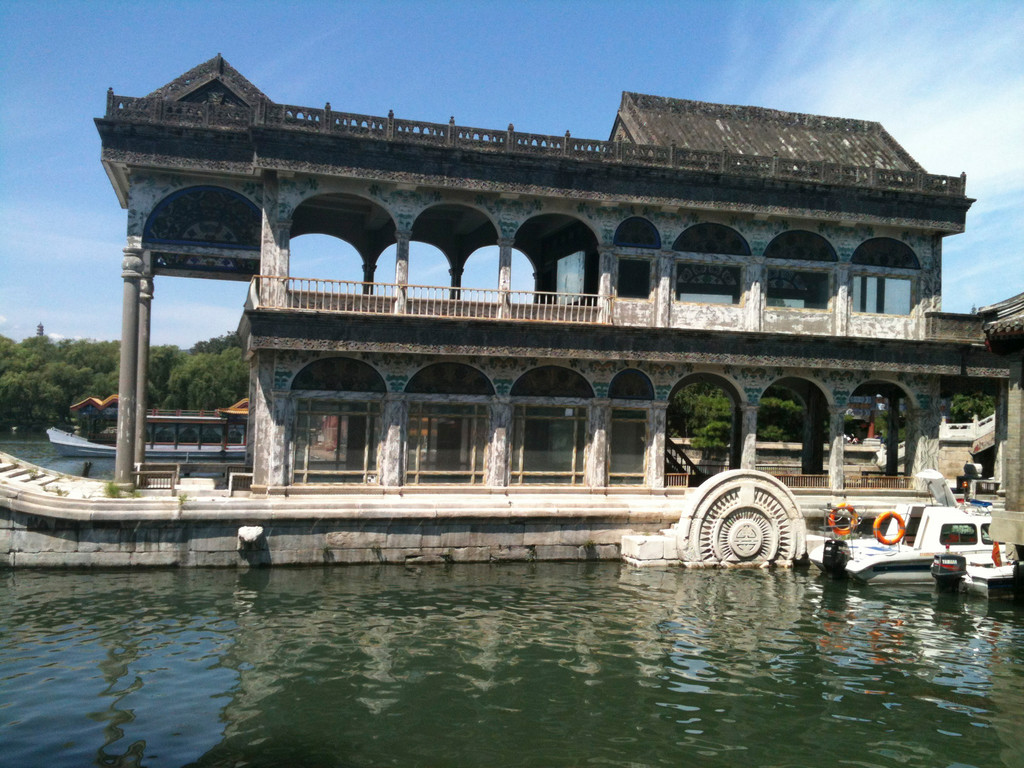 The Marble Boat on the grounds of the Summer Palace in Beijing was one of the many places Justin Andrews visited.