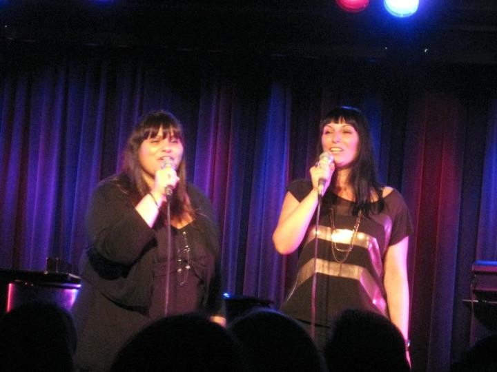 "Viki, left, and Niki Sorrentino performed solo acts and duets in their cabaret-style show, ""Caught in the Act."""