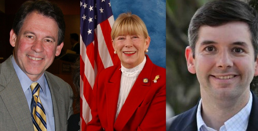Leg. Francis X. Becker, Congresswoman Carolyn McCarthy, challenger Frank Scaturro will vie for the 4th Congressional seat.