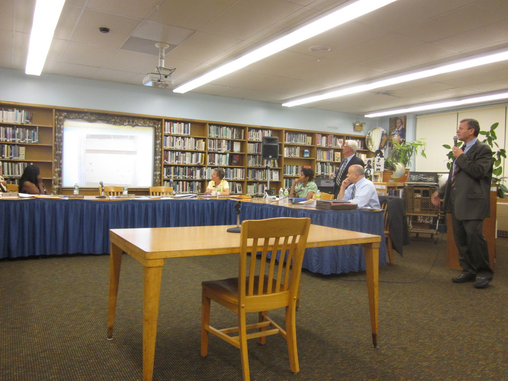 Spiro Colaitis, Malverne schools' assistant superintendent of operations, updated the community on the district's $14.9 construction project at a recent Board of Education meeting.