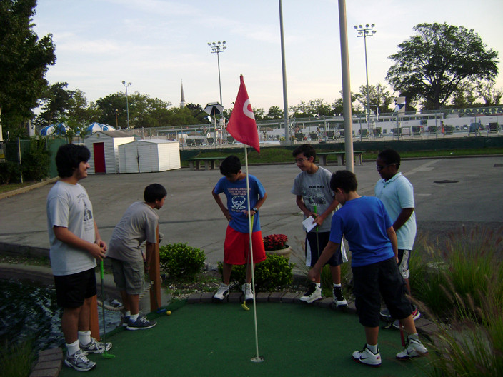 The Library hosted a miniature golf outing at Hendrickson Park on Aug. 24 for teens who completed the summer reading club requirements.
