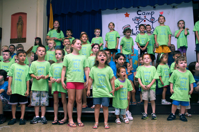 Vacation Bible School at Our Lady of Lourdes Church in Malverne closed with a performance by campers for their family members and friends.