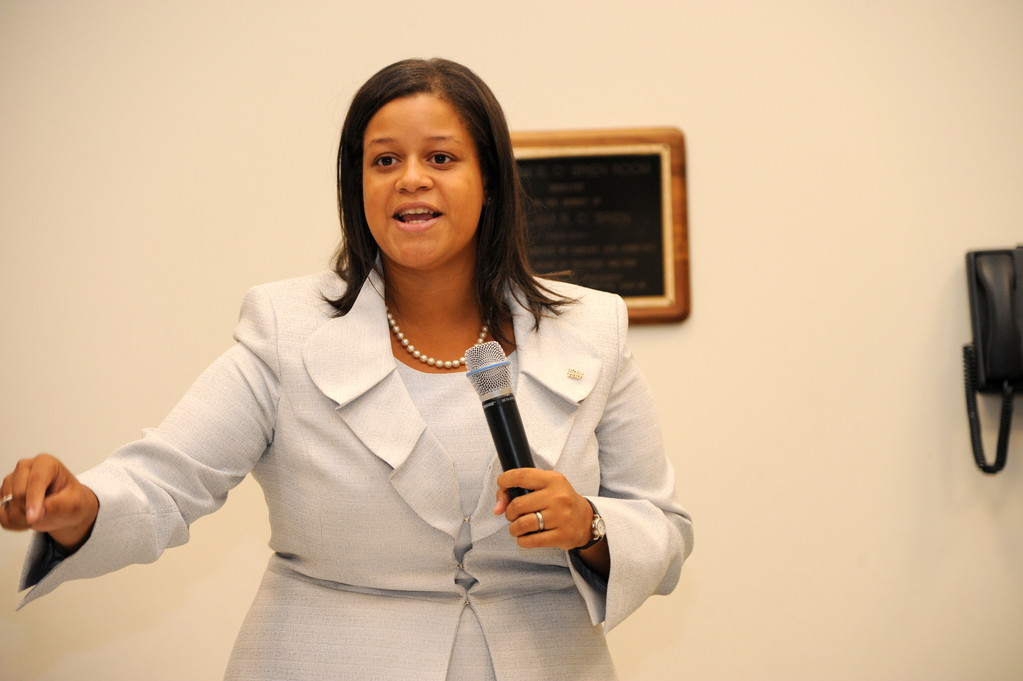 Michaelle Solages, of Elmont, is seeking the Democratic nod for the 22nd Assembly District.