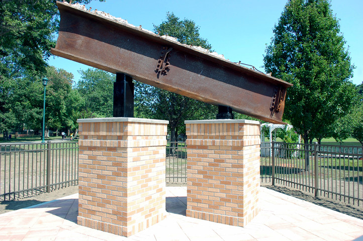 The Sept. 11 memorial at Hendrickson Park in Valley Stream.