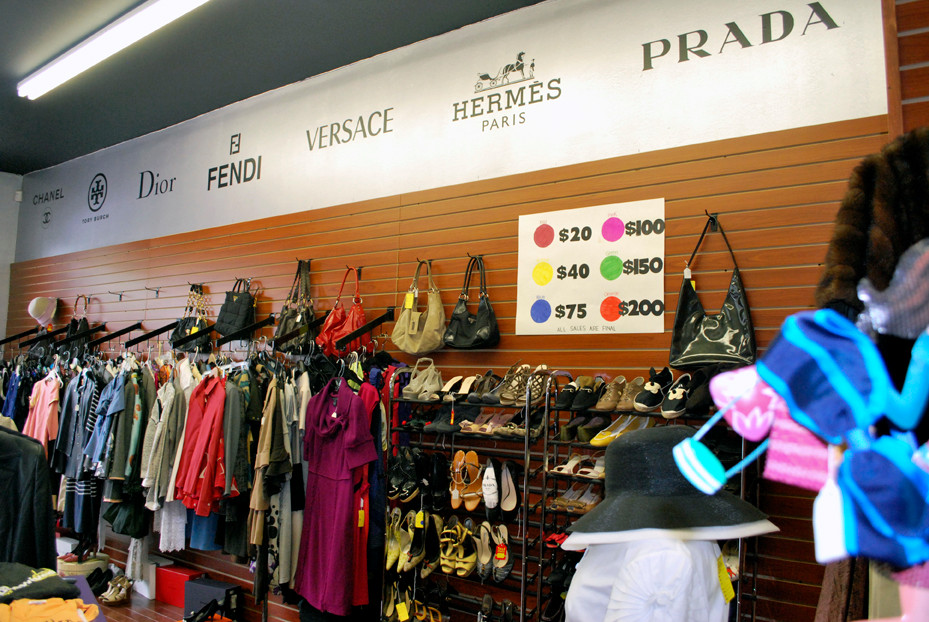 The Emperor's Old Clothes designer resale shop has a variety of famous designer brands for purchase at cut rate prices.