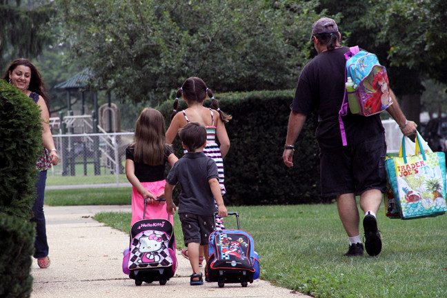 The Blattberg family was ready for school on the first day.