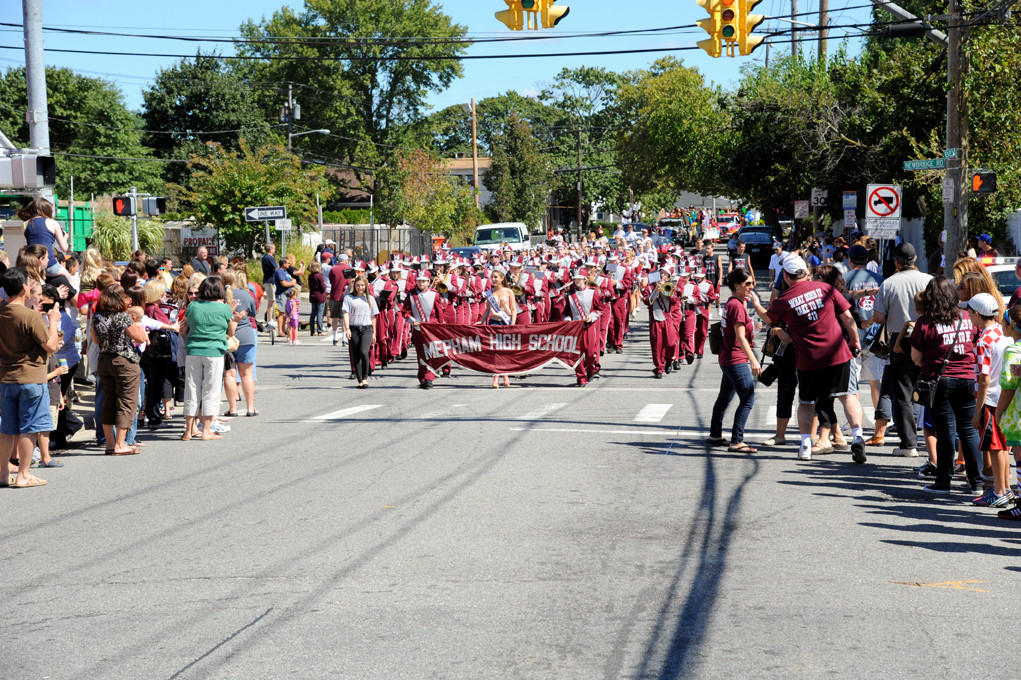 Large crowds turned out for this year�s Homecoming parade, at which the community celebrated Mepham�s 75th anniversary.