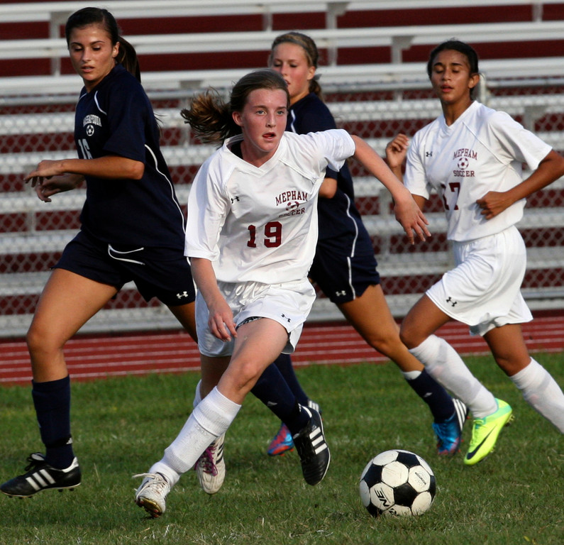 Freshman Erin Gilroy had three goals and one assist in Mepham's first two games of 2012.