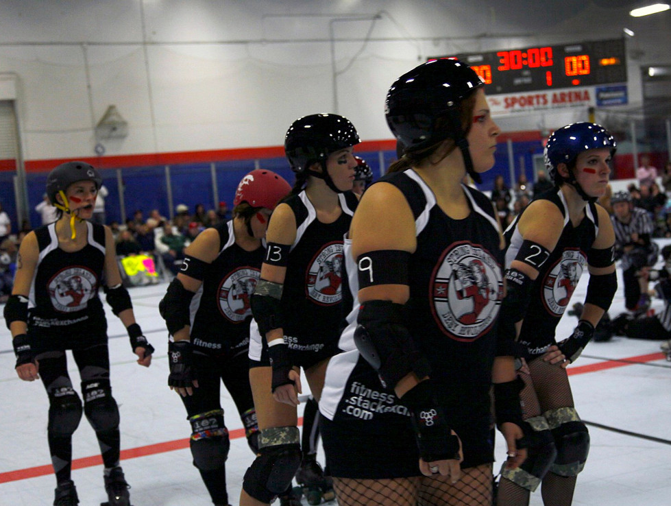 "The grim girls of Strong Island Derby will play an inter-squad ""civil war"" Sept. 29. A portion of proceeds will benefit the Wounded Warriors."