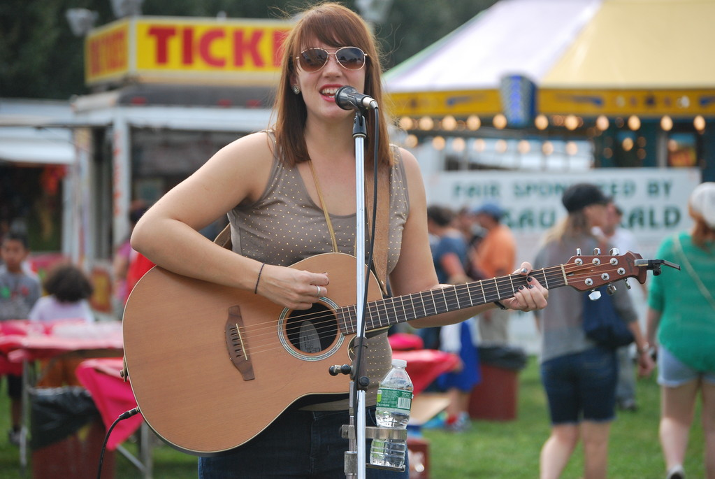 Long Island singer-songwriter Christine Sweeney performed in the early afternoon on Saturday.