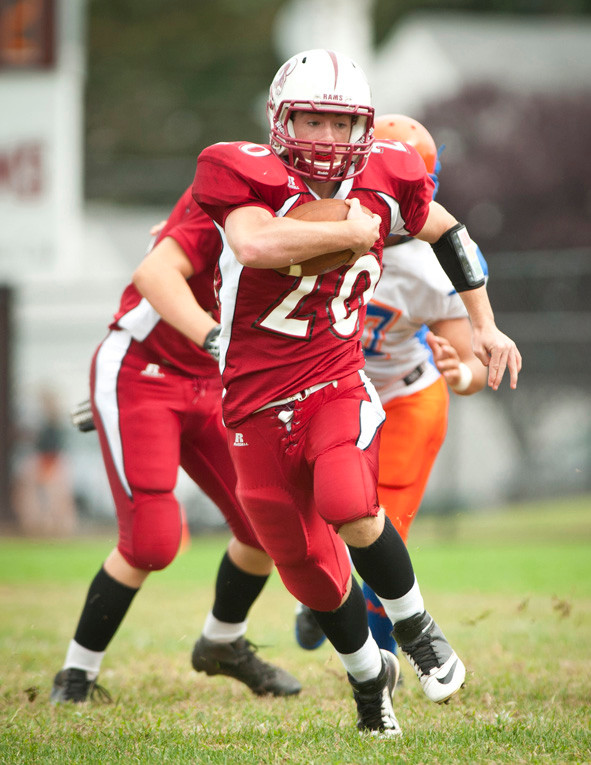 Clarke junior Joe Truono played a key role in last Saturday's 30-26 victory over Malverne with two touchdowns.