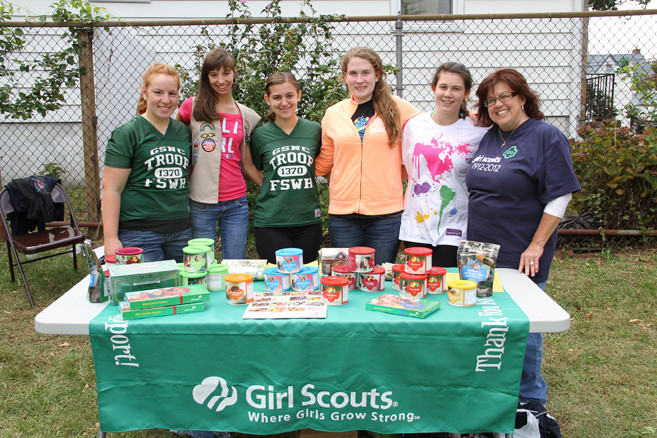 Members of Franklin Square/West Hempstead Girl Scout Troop 1370 sold goodies.