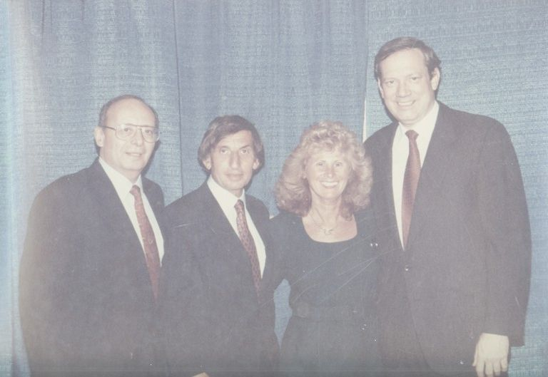 Al D'amato, left, Larry and Helen Elovich and George Pataki in the early 1990s. Many say that Elovich's political connections benefitted Long Beach over the years.