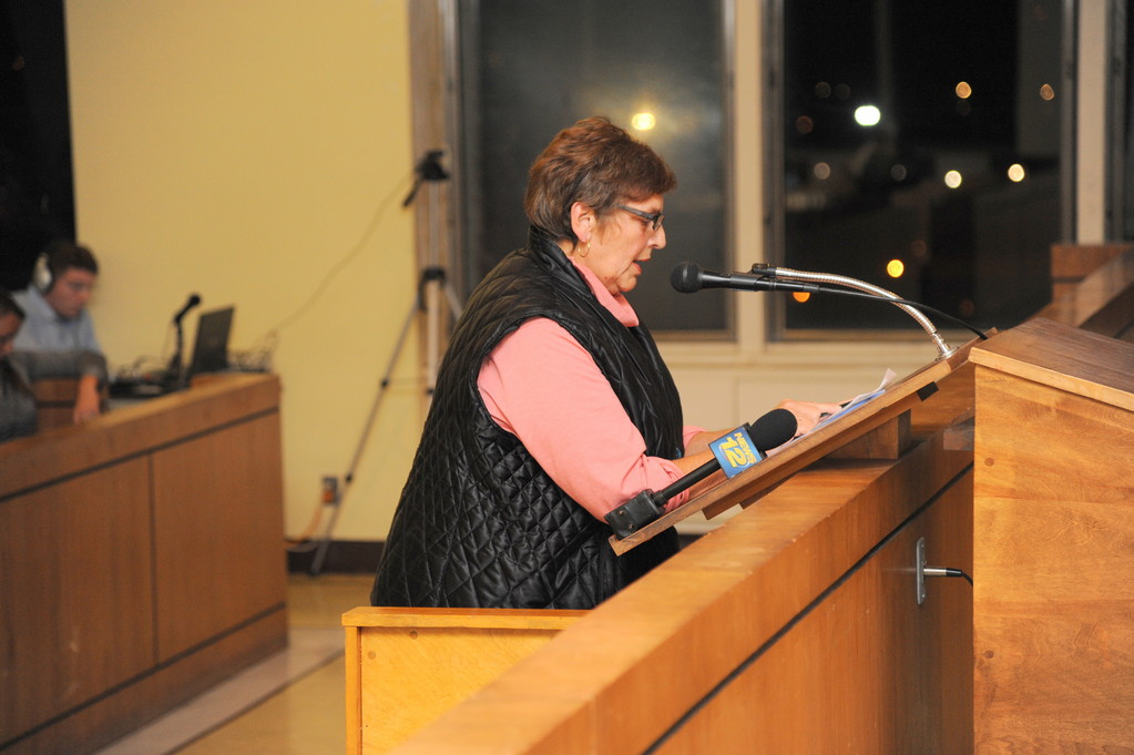 "Resident Barbara Bernardino called on city officials to get ""creative"" and find savings."