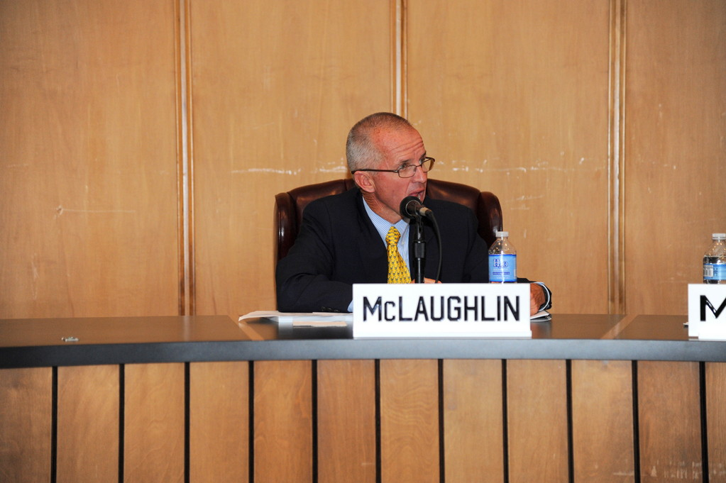 Councilman John McLaughlin voted against the surcharge, and asked that a public hearing be held.