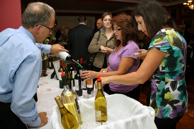 Ralph Garone of Testa Wines of the World poured samples at the 10th annual Culinary Delights fundraiser.