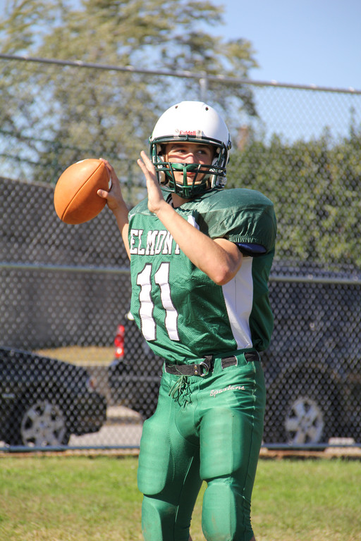 Quarterback Mike Braun has sparked Elmont's offense. He had three touchdown passes last week.
