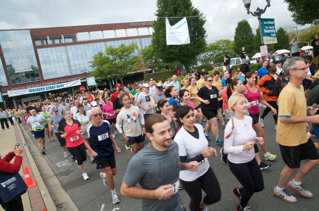 Hundreds of people participated in the 21st annual 5K at South Nassau Communities Hospital in Oceanside.