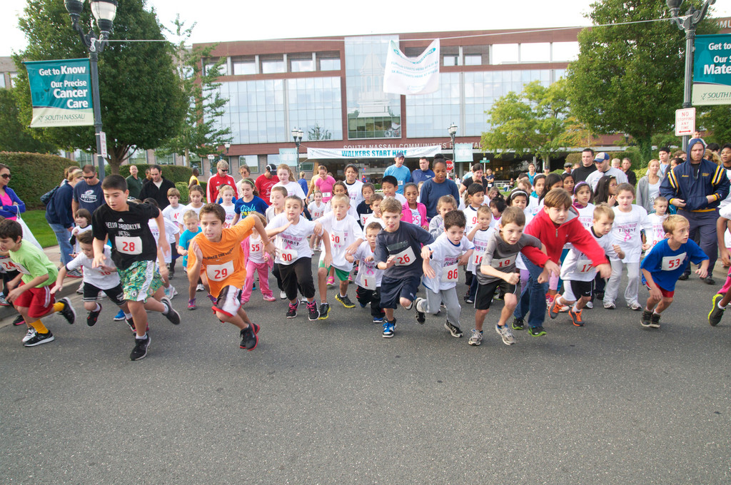 South Nassau Communities Hospital in Oceanside held its 21st annual Communities for a Cure 5K Run/Walk and Multi-Cultural Health Fair last weekend, kicking off the day with a Fun Run for kids. The race attracted hundreds of people and raised money for the hospital's cancer programs.