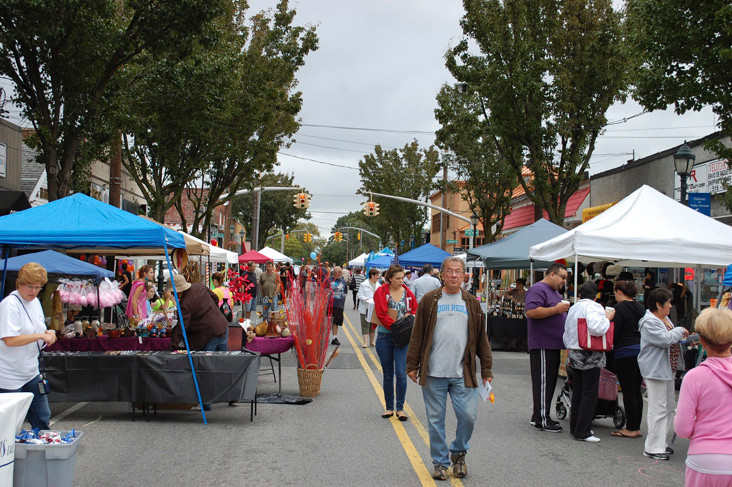 Residents and Vendors lined Rockaway Avenue for the inaugural Valley Stream Community Fest last Saturday. The seven-hour-long street fair featured food, children�s activities and entertainment.