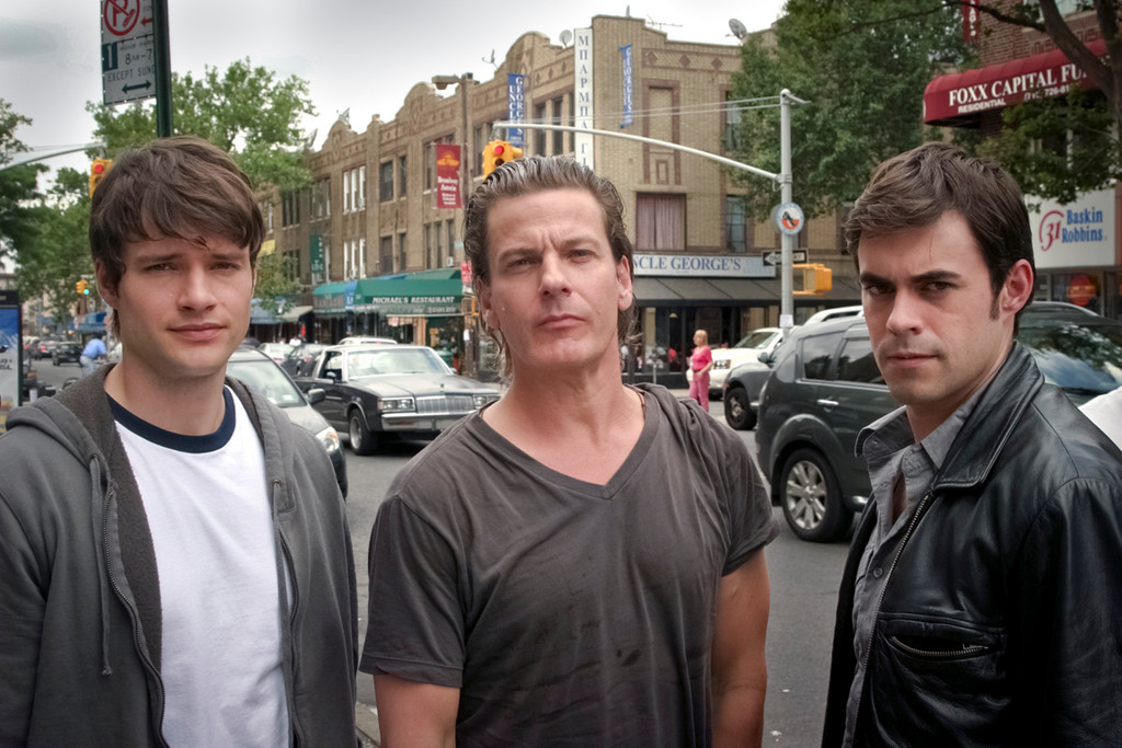 Nick Cornish (from left), Adam Storke and John Lavelle star in the film festival favorite, opening at the Malverne Cinema on Friday.