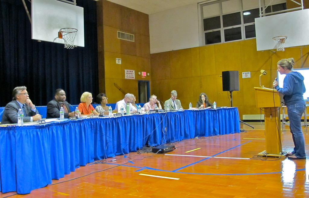 At a special meeting of the School board last week, trustees and officials sought public comments on a proposal to reduce busing services.