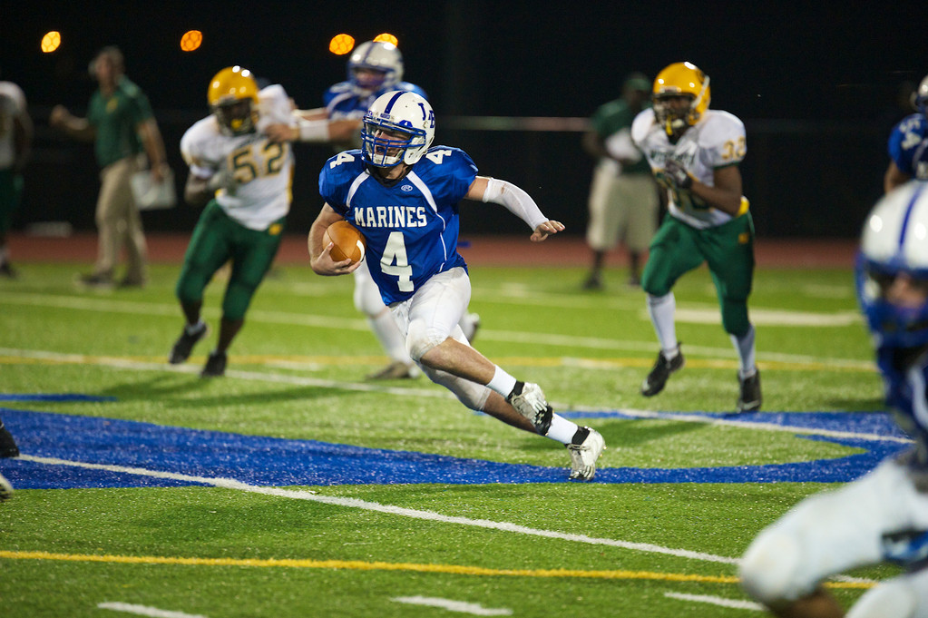 Long Beach's James Forkin rushed for 114 yards in last Friday's 38-7 Conference II victory over Westbury.