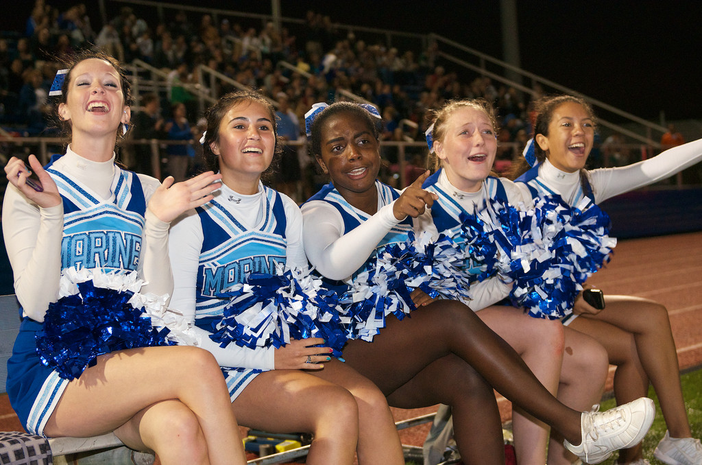 Long Beach High School cheerleaders showed their team spirit at last Friday�s Homecoming game.