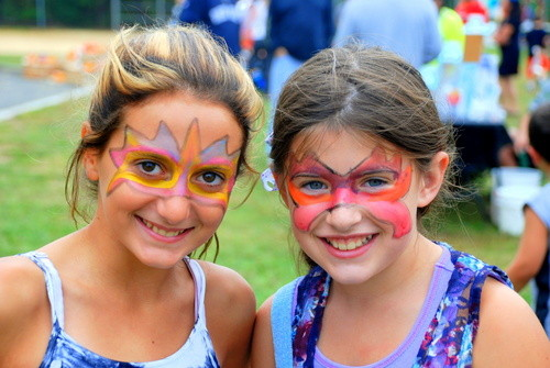 Students Rebecca Vardaro and Lauren Boll had their faces painted.