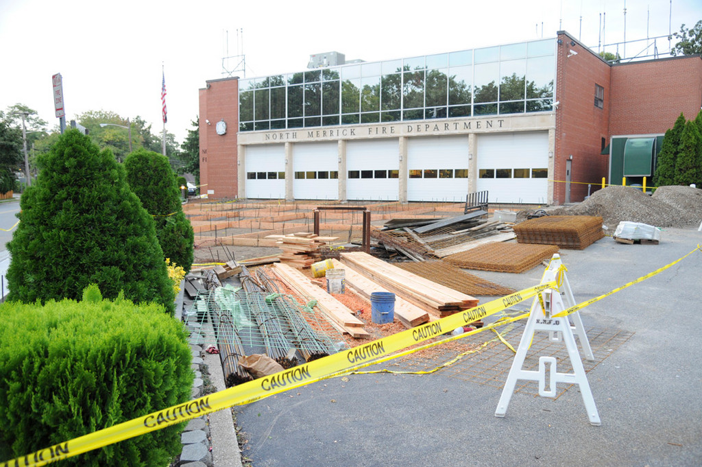 The North Merrick Fire Department is having ramps installed in the front and back of its firehouse on Camp Avenue.