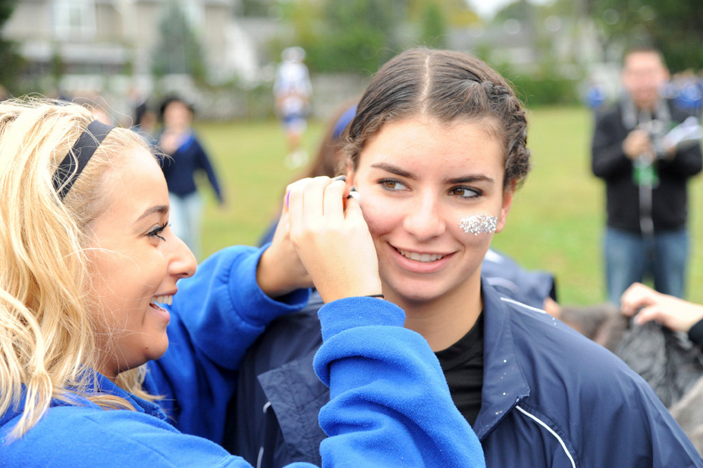 Calhoun senior Gianna Saladino had her face painted by Despina Psyllis during Calhoun Colt Fest 2012.