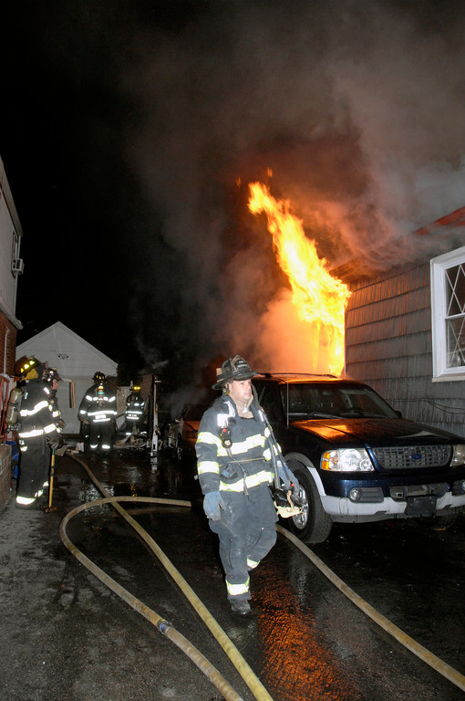 A fast-moving fire caused heavy damage to a home on Viola Street in Valley Stream on Oct. 7.