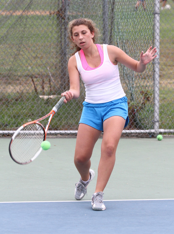 Junior Lena Diller heads Mepham's lineup at No. 1 singles.