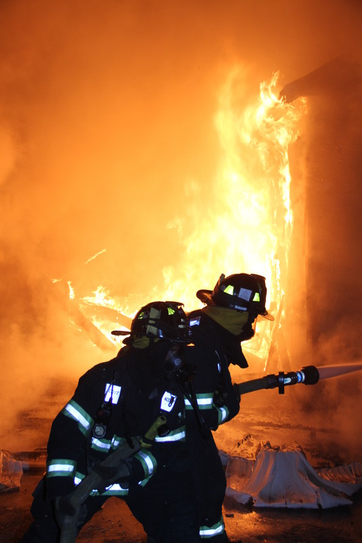 Valley Stream firefighters battled a blaze at 24 Viola St. on Oct. 7.