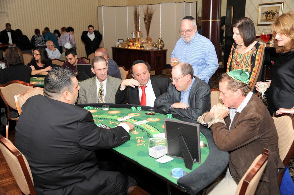 Rabbi Howard Diamond was among the congregation attending the synagogue's casino night.