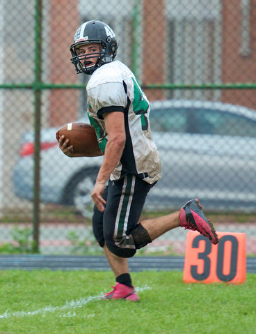 James Capoziello scored Valley Stream North's first touchdown in last Saturday's Conference IV defeat at West Hempstead.