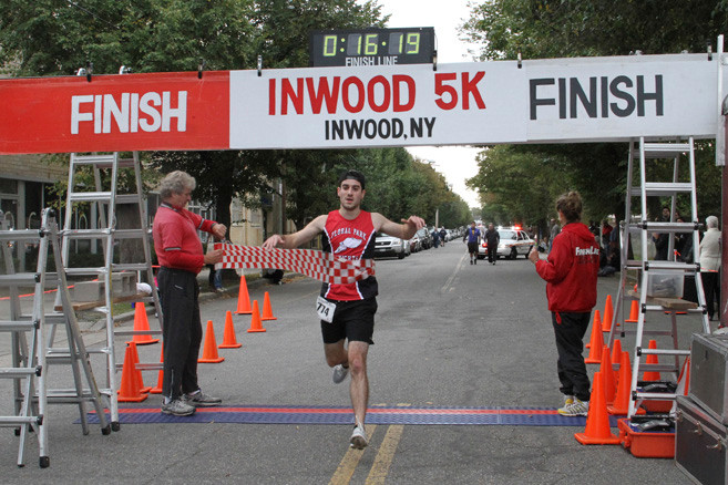 The 5K run winner was Matthew Badamo, 24, of Floral Park, who completed the race in 16:18.
