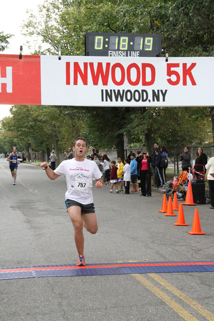 Steven Ferraro, 20, of Hewlett crossed the finish line with a recorded time of 18:18 to place third in the 5K race.