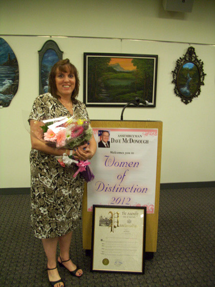 Anne Barracca was honored for her dedication to the PTA and PTSA at local schools.