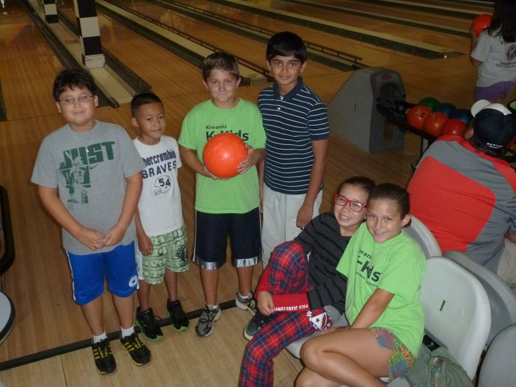 The K-Family student volunteers went bowling for a good cause.