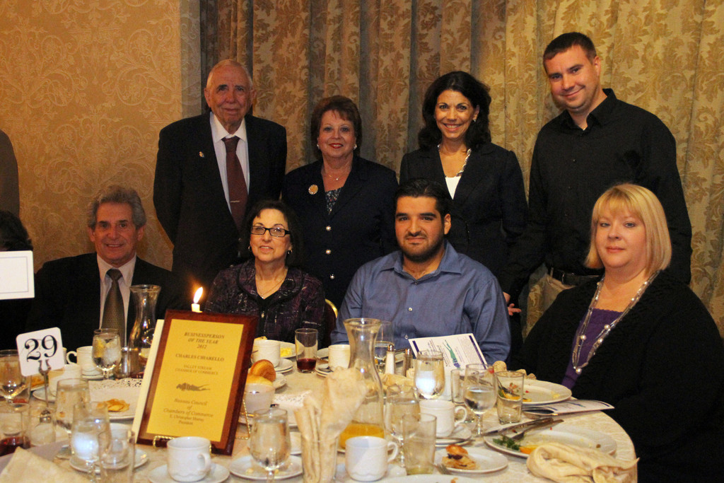Chamber members Lee Feinman, Lou Palermo, Debbi Gyulay, Angela Ogurick, David Sabatino, Barbara DeGrace, Andrew Hackmack and Lisa Norwich attended the Oct. 12 awards breakfast.